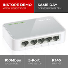 TP-LINK 5 Port Fast Ethernet Switch LAN Network Hub Wired RJ45 Splitter