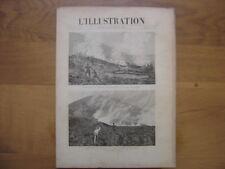 1895 juil 20 L'ILLUSTRATION 2734 Vesuve Brigandage Grece Insurrection Cuba