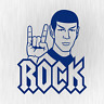 Mr Spock Rock Hand Heavy Metal Star Satire Trek Auto Blau Vinyl Decal Aufkleber