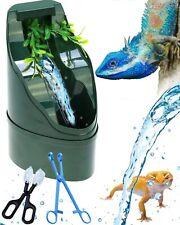 Corisrx Adjustable Reptile Water Dispenser Fountain w/Sponge & Water Pump