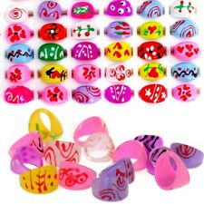 20Pcs Wholesale Mixed Lots Cute Cartoon Children/Kids Resin Lucite Rings Jewelry