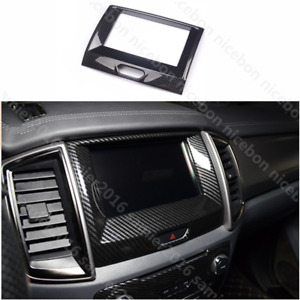 Carbon Fiber Color Inner Center Navigation frame Cover for Ford Ranger 2015-2020
