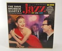 "Dave Brubeck Jazz Red Hot and Cool Columbia 699 3 Record 7"" Set, Very Nice"