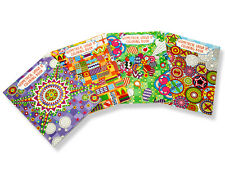3 x 64 Pages Adult Colouring Book Relaxing Stress relief Fun Peace Artist Cheap