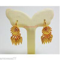 THAI EARRINGS DROP DANGLE 22K 23K 24K THAI BAHT YELLOW GOLD GP Thai dress