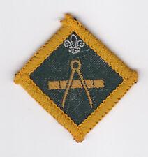 1967 UK SCOUTS - DIAMOND SHAPE SCOUT INSTRUCTOR PROFICIENCY BADGE - MAP MAKER