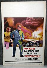 HELLFIGHTERS orig 1969 ROLLED movie poster JOHN WAYNE/RED ADAIR/KATHARINE ROSS
