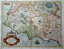ITALIEN ITALIA CAMPAGNA DI ROMA OLIM LATIUM MAGINI MAPPA NAVI CARTOUCHE 1620