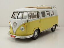 VW T1 Bus Camping 1962 gelb weiß Modellauto 1:18 Lucky Die Cast
