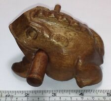 Carved 4 inch Wood Frog & Stick Percussion Musical Instrument. Makes Frog Sound!