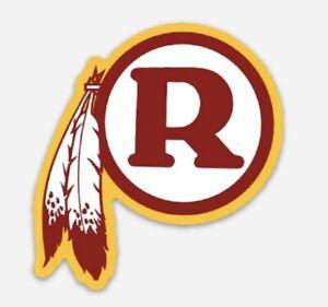 Washington Redskins custom die cut MAGNET NFL Football