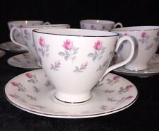 "Royal Albert ""Winsome"" Tea Set For 10 With Pink Roses, Bone China, England"
