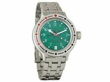 Vostok Amphibian 420386 Watch Scuba Dude Military Russian Diver Green