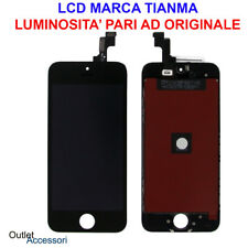Display LCD Schermo Touch Vetro Apple Iphone 5S Nero A1530 A1533 Tianma OEM