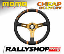 Momo Drifting Steering Wheel Orange CHEAP DELIVERY WORLDWIDE Race Rally Ø350mm