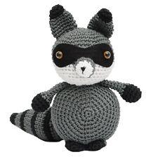 Gray Bandit Raccoon Handmade Amigurumi Stuffed Toy Knit Crochet Doll VAC