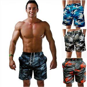 Camouflage Badeshorts Badehose Shorts Herren Männer Bermuda Shorts Sport Men 574