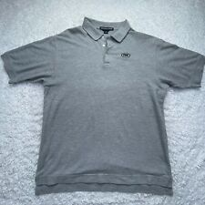Devon & Jones Fox Sports Polo Shirt Adult Extra Large Gray Short Sleeve Golf D4