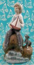 Lladro # 5166 ~ BOY WITH BOAT ~ AKA Sea Fever   ** MINT **  BUY 1 GET 1 50% OFF