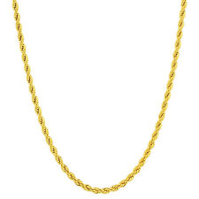 Stainless Steel Gold Plated 4mm Rope Chain Necklace #GC015