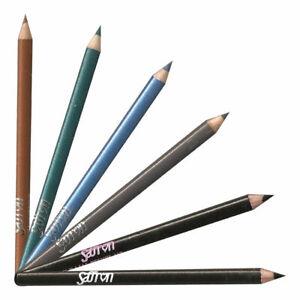 Saffron Soft Kohl Kajal Eyeliner Pencil ~ Grey, Azure, Soft Black & Forest Green