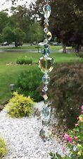 Healing Green Crystal Heart Suncatcher/Prisms W/Feng Shui Crystal Ball  USA