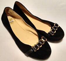 Bamboo Women's Black Fabric Ballerinas  Flat Shoes Size 8.5
