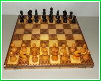 Vintage wooden Chess,old 60s,Wooden Chess,Full Set,Chess Set Handmade
