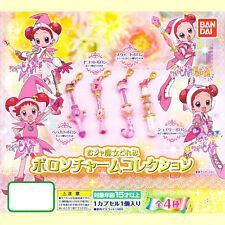 Bandai Magical Motto! Ojamajo DoReMi Poron Charm Mascot Collection Set of 4