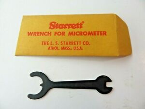 STARRETT Spanner Wrench For Micrometer Mics Made in USA NEW
