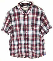 American Eagle Outfitters Button Down Shirt Mens XL Vintage Fit Red Plaid No77
