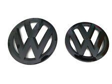VW GOLF MK6/MK VI GLOSS BLACK BADGE/EMBLEM/LOGO FOR BONNET AND BOOT OEM FITMENT