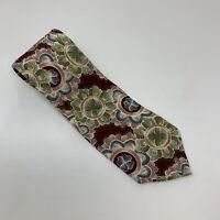 Men's Christian Dior Monsieur Necktie Floral Heart Art Italian Silk Neck Tie