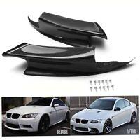 2Pcs Carbon Fiber Front Bumper Lip Splitter Spoiler for BMW E92 E93 M3 07-12