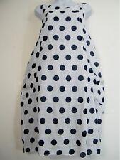 LagenLook 100% Cotton Spotty Lightweight Summer Dress Pockets One Size:Regular