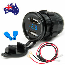 12V Dual USB Waterproof Car Motorcycle Power Adapter Charger Plug Socket Outlet