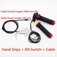 Throttle Handle Hand Grips Cable Kill Switch For 49cc-80cc Motorized Push Bike