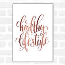 Rose Gold Healthy Lifestyle Quote Jumbo Fridge Magnet
