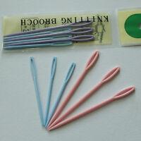 6X 7/9cm Child Plastic Sewing Cross Stitch Seamed Knitting Wool Weave Needle  DD