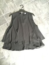 ATMOSPHERE SIZE 16  BLACK SLEEVELESS HIGH NECK LAYERED BLOUSE/TOP BNWTS