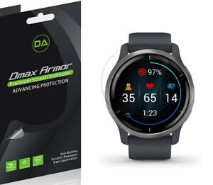 3-Pack Dmax Armor Full Coverage Clear Screen Protector for Garmin Venu 2