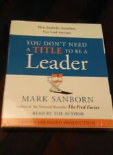 """Random House Audio CD's: Mark Sanborn """"You Don't Need A Title To Be A... NEW"""