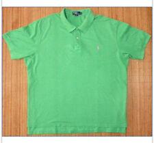 Mens SS 4XB Big Ralph Lauren Polo Short Sleeve Cotton Pique Mesh Green Tall