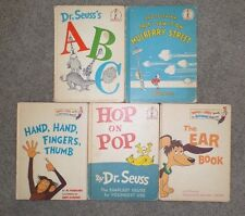 Vtg. Dr. Seuss ABC, Hop On Pop, Mulberry Street, Ear Book, Hand Fingers Thumb