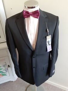 """NEW M&S Men's Charcoal Suit Jacket Chest 38"""" Long Drop Wool with Stretch rrp £90"""