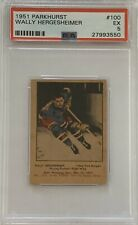 1951 1952 PARKHURST Wally Hergesheimer PSA 5 Excellent EX #100 HOCKEY