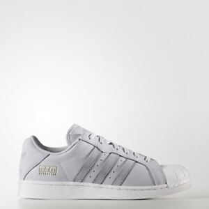 Adidas Originals ULTRASTAR MID GREY LEATHER SHOES BZ0516