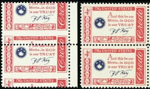 1142, Mint NH 4¢ Misperforated Error Pair of Stamps With Normal - Stuart Katz