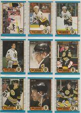 1989-90 O-Pee-Chee BOSTON BRUINS Team Set - 13 Hockey Cards - OPC