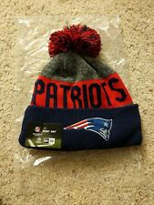New Era England Patriots Red and Blue Knit Adult 2016 Pom Beanie Stocking Hat